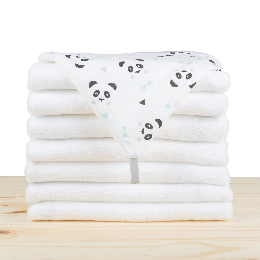 Cape de bain bambou rectangle - Panda