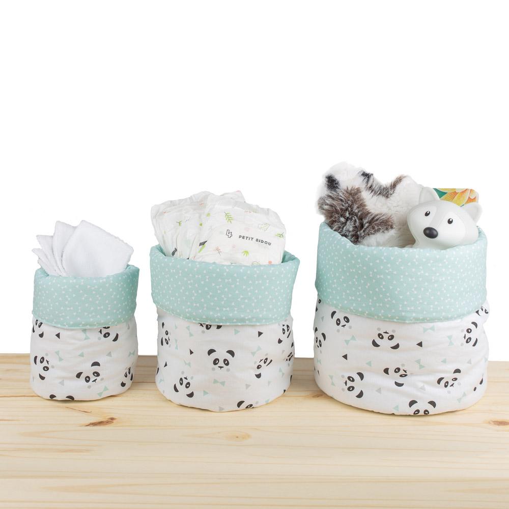 Panier tissu fait main - Panda