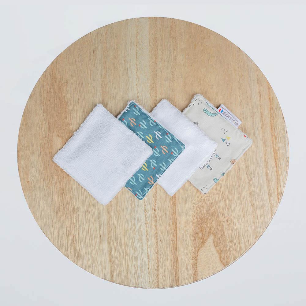 lingettes lavables zéro déchet Lama