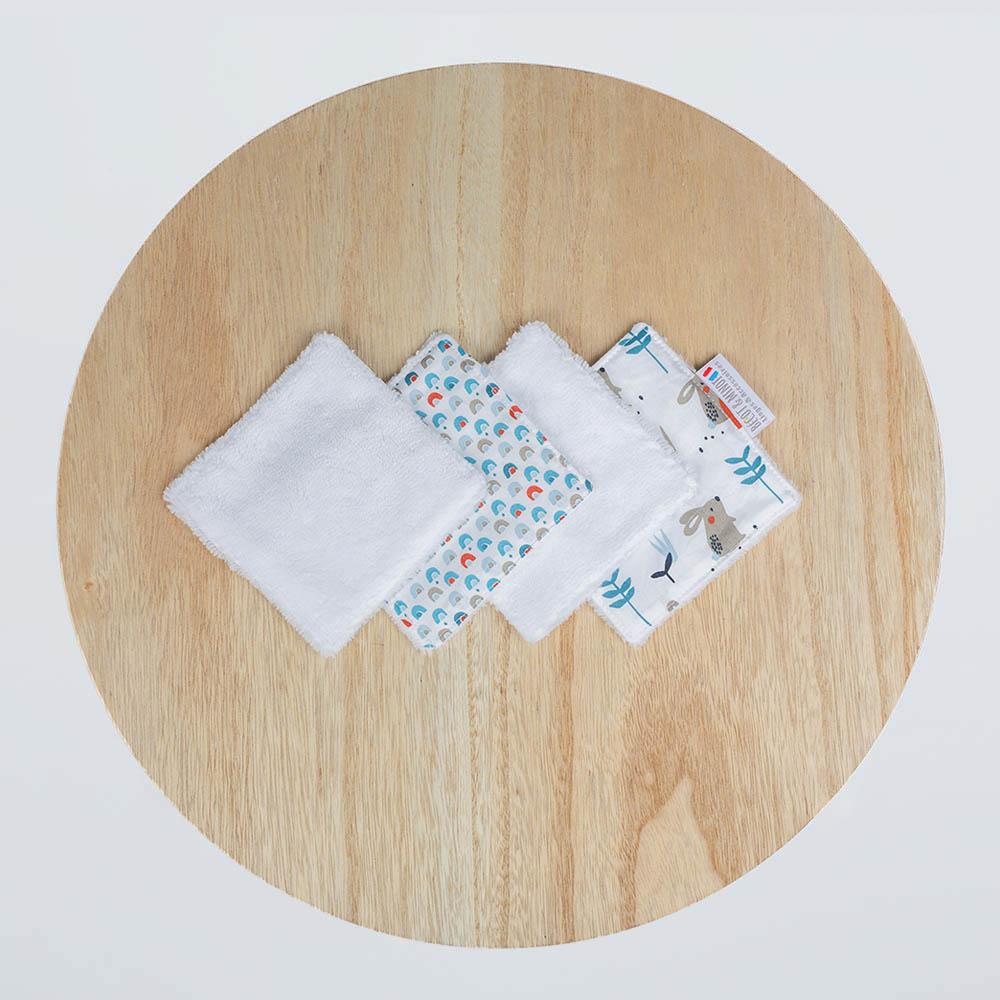 lingettes lavables zéro déchet Lapin