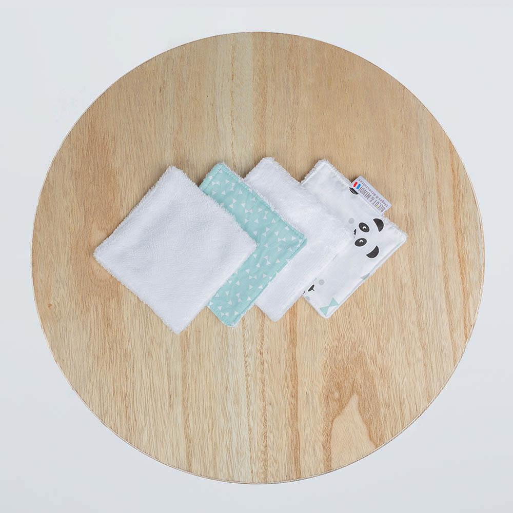 lingettes lavables zéro déchet Panda